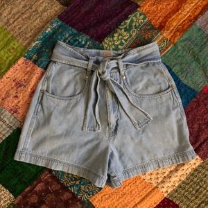 Vintage high waist denim sailor shorts